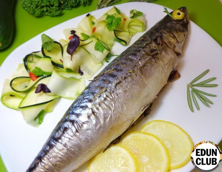 Mackerel with rosemary and zucchini salad from Jamie Oliver
